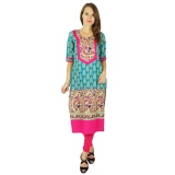 Spesifikasi Phagun Perancang India Bollywood Kurta Wanita Etnis Kurti Cotton Gaun Tunik Multicolor Intl Baru
