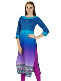 Promo Phagun Indian Kurta Cotton Designer Wanita Etnis Bollywood Kurti Kausal Top Tunic Dress Biru Intl Phagun Terbaru