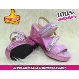Phayuan Sandal Anak Perempuan Fashion K16A Baby Pink Selop Wedge Terbaru