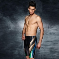 PHINIKISS 2017 Swimwear Profesional Men Swimsuit Cetak Swimming Shorts untuk Anak Laki-laki Mens Swim Trunks Bathing Suit Zwembroek Heren-Intl