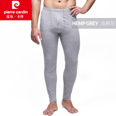 Pierre Cardin Katun Stapel Panjang Bagian Tipis Hangat Celana Celana Katun Long Johns (Tidak Tidak + Dangkal Heather Gray)