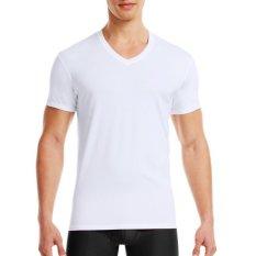 Pierre Uno - Kaos Dalam Pria V-Neck Shirt - Putih - 1 Pcs