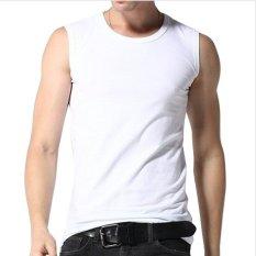 Toko Jual Pierre Uno Kaos Lengan Buntung Putih 3 Pcs