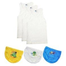 Beli Pierre Uno Kids Combo Sekolah Singlet Dan Celana Dalam Anak Laki Laki Alien 6 Pcs Baru