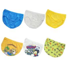 Pierre Uno Kids Value Pack Celana Dalam Anak Laki Laki Cotton Pirate 6 Pcs Promo Beli 1 Gratis 1