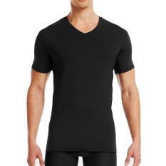 Beli Pierre Uno Value Pack Kaos Dalam Pria V Neck Shirt Hitam 3 Pcs