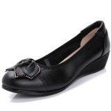 Spesifikasi Pijakan Empuk Bekerja Sepatu Hak Perempuan Sepatu Kulit Teplek Mama Hitam Sepatu Wanita Flat Shoes Paling Bagus