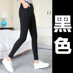 Beli Celana Perempuan Pinggang Tinggi Yard Besar Adalah Pakaian Luar Yang Tipis Celana Panjang Model Hitam Model Hitam