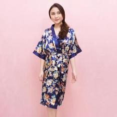 Beli Pink Bunny Lable Satin Flower Set Kimono Blue Bj Pake Kartu Kredit