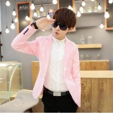 Diskon Produk Pink Baru Musim Semi Musim Gugur Tipis Kasual Pria Blazer Baru Ramping Katun England Suit Blaser Masculino Pria Jaket Blazer Pria Ukuran M 3Xl Intl