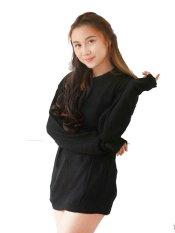 Toko Pinkbunnylabel Korean Sweater Rajut Blouse Hitam Lengkap Dki Jakarta