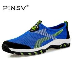 Top 10 Pinsv Air Mesh Musim Panas Sepatu Pria Loafers Slip Di Flat Sepatu Pria Sepatu Kasual Ukuran 39 47 Biru Intl Online