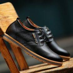 Jual Pinsv Genuine Leather Pria Perhiasan Logam Campuran Bisnis Sepatu Kasual Black Eu 37 Antik