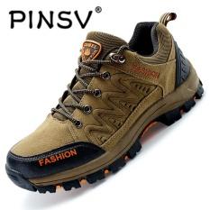 Kualitas Pinsv Hiking Sepatu Pria Spring Hiking Boots Mountain Pendakian Sepatu Outdoor Sport Shoes Trekking Sneakers Khaki Pinsv