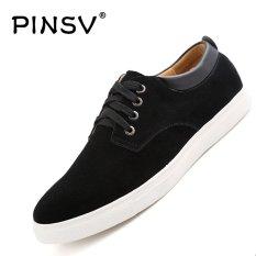 Harga Pinsv Kulit Pria Sepatu Kasual Fashion Sneakers Plus Ukuran 38 49 Hitam Pinsv Original