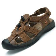 Beli Pinsv Pria Aqua Dia Sandal Trekking Coklat Online