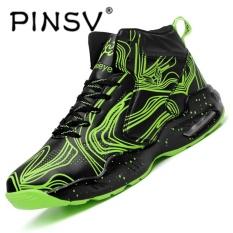 Harga Pinsv Pria Basket Sepatu Sneaker Tren A Basket Sport Boots Hijau Intl Pinsv