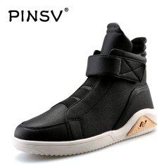 Beli Bernapas Pinsv Pria Sepatu Kasual Hight Cut Sneakers 8899 Hitam Intl Online Terpercaya