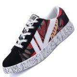 Jual Pinsv Sepatu Kasual Sepatu Fashion Pria Sepatu Kets Hitam Merah Tiongkok