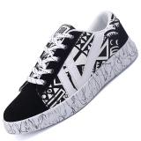 Harga Pinsv Sepatu Kasual Sepatu Fashion Pria Sepatu Kets Hitam Putih Di Tiongkok