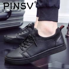Pinsv Pria Sepatu Kasual Fashion Sneakers Skate Sepatu Black Tiongkok Diskon