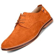 Spek Pinsv Fashion Pria Sepatu Oxford Sederhana Kuning Pinsv