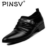 Pinsv Pria Sepatu Formal Bisnis Kasual Loafers Hitam Internasional Di Tiongkok