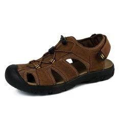 Harga Pinsv Pria Outdoor Pantai Sandals Brown Intl Terbaik