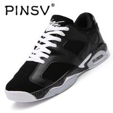 Beli Pinsv Baru Air Merahaman Pria Basket Shoes Midium Cut Basket Sneakers Sport Sepatu Hitam Online Tiongkok