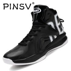 Spesifikasi Pinsv Baru Air Merahaman Pria Basket Shoes Midium Cut Basket Sneakers Sport Sepatu Hitam Putih Intl Bagus