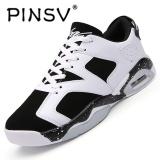Beli Pinsv Baru Air Merahaman Pria Basket Shoes Midium Cut Basket Sneakers Sport Sepatu Hitam Putih Pinsv Dengan Harga Terjangkau