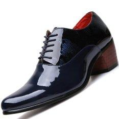 Harga Pinsv Paten Kulit Sepatu Boots Sepatu Casual Oxford Roda Kaki Buatannya Navy Eu 38 Murah