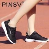 Toko Pinsv Pria Sepatu Kasual Bernapas Tali Berjalan Sepatu Musim Semi Ringan Berjalan Nyaman Sepatu Pria Hitam Pinsv