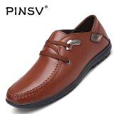 Spek Pinsv Synthethhic Kulit Pria Perhiasan Logam Campuran Bisnis Sepatu Kulit Sepatu Kasual Brown Intl Pinsv
