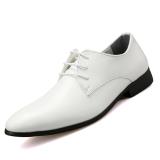 Beli Pinsv Sintetis Pria Sepatu Kulit Kasual Formal Putih Pinsv Dengan Harga Terjangkau