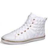 Perbandingan Harga Pinsv Sintetis Kulit Sepatu Kasual Pria Fashion Sepatu Kets Putih Pinsv Di Tiongkok