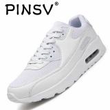 Toko Pinsv Musim Panas Pria Fashion Sepatu Kets Olahraga Kasual Bernapas Nyaman Sepatu Putih Lengkap Di Tiongkok