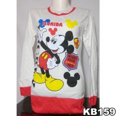 Pipitstore Blouse Baju Lengan Panjang Remaja Mickey