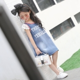 Berapa Harga Pita Gadis Rok Denim Lengan Pendek Gaun Light Blue Oem Di Indonesia