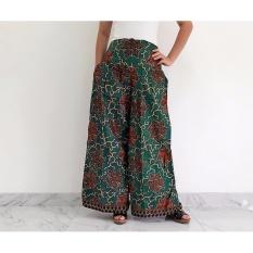 Pitakita Celana Batik Kulot Panjang Karenina-Hijau