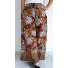 Harga Pitakita Celana Batik Kulot Panjang Klok Coklat K12 Fullset Murah