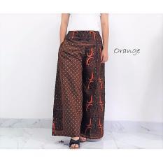Toko Pitakita Celana Batik Kulot Panjang Klok Karenina Sm5 Orange Yang Bisa Kredit