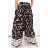 Spesifikasi Pitakita Celana Batik Kulot Panjang Klok Hitam Pitakita