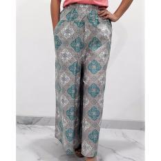 Pitakita Celana Batik Kulot Panjang Motif Daun - Hijau