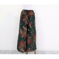 Pitakita Celana Batik Kulot Panjang Klok-Hijau