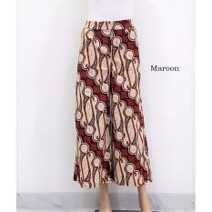 pitakita Celana Batik Kulot Panjang Motif Parang -Maroon
