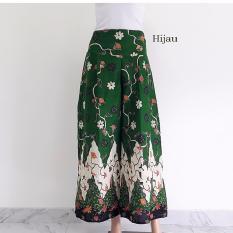 pitakita Celana Kulot batik Panjang Klok 010 - Hijau