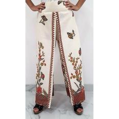 Toko Pitakita Celana Kulot Panjang Batik Motif Bunga Lengkap