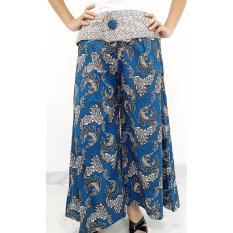 Pitakita Celana Panjang Kulot Batik Efelin '[Biru]