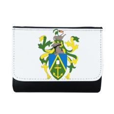 Kepulauan Pitcairn Oceania Nasional Emblem Multi-Fungsi Faux Kulit Dompet Kartu Dompet Hadiah-Intl